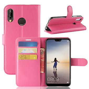 Pocket wallet premium Pink for Huawei P20 Lite protection sleeve case cover pouch new accessories