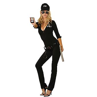 Elegant Moments Womens Sexy FBI Agent Cop Jumpsuit Halloween Roleplay Costume