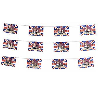 Royal Wedding Party Bunting Harry & Meghan Banner Flag Decoration Accessory X3