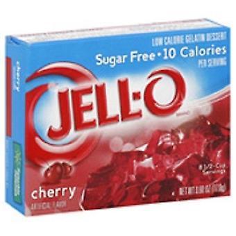 Mezcla de gelatina azúcar libre cereza gelatina instantánea