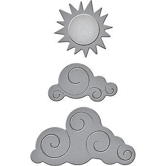 Spellbinders Shapeabilities Die D-Lites-Sun & Clouds