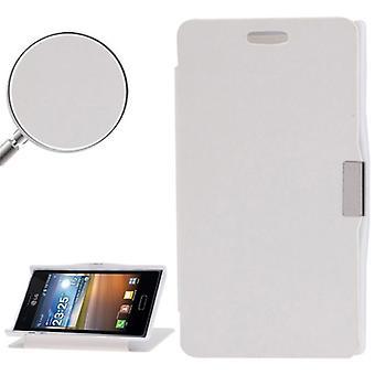 Etui de téléphone portable pour LG Optimus L5 / E610 blanc brossé