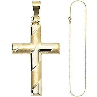 Кулон крест 333 золото желтое золото с цепью Золотой крест крест кулон 45 см