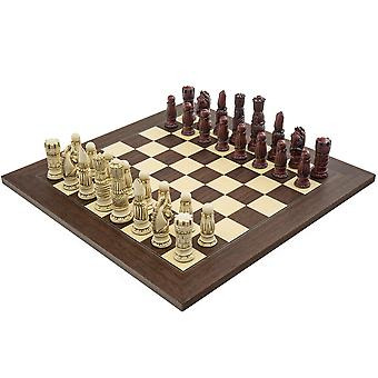 The Berkeley Chess Victorian Cardinal Palisander Chess Set