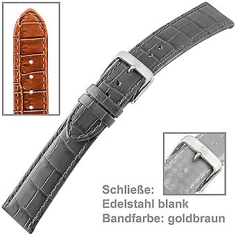 Ladies watch strap 14 mm, Louisiana embossing on leather, buckle stainless steel