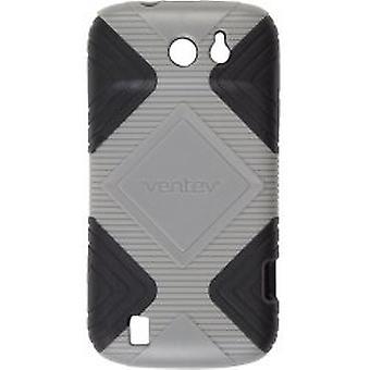 Ventev GEO Hard Shell bløde TPU silikone Cover tilfældet for ZTE Flash 9500 - grå/Bla
