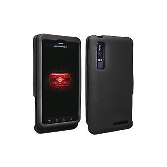 OEM Verizon Snap-On de silicona Funda para Motorola Droid 3 (negro) (embalaje a granel