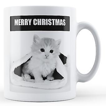 Merry Christmas Cat - kubek z nadrukiem