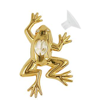 Suncatcher frog with crystal elements