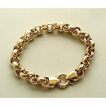 Geel gouden Christian jasseron armband
