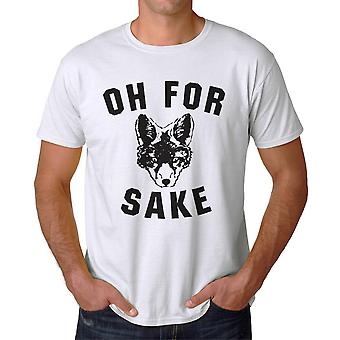 Funny Oh For Fox Sake Graphic Men's White T-shirt