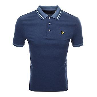 Lyle & Scott Oxford Tipped Polo Shirt Mist Blue