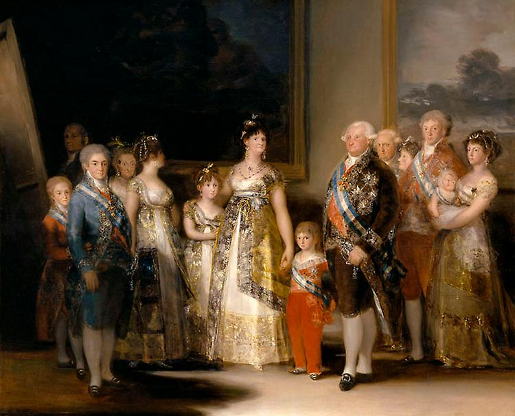 Portrait of the Family of Charles IV,Francisco Goya,50x40cm