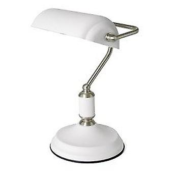 Lloytron Sand White Emperor Bankers Lamp For Table Desk Office