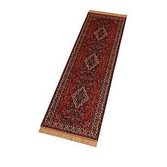 Red Persian Medallion Artsilk Faux Silk Effect Hall Runner Rugs 9099/12