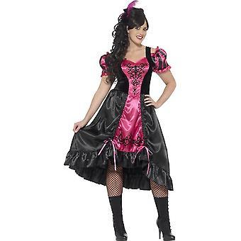 Curves Sassy Saloon Costume, XXL