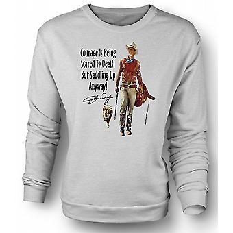 Sweatshirt John Wayne moed - kinderen Western Cowboy