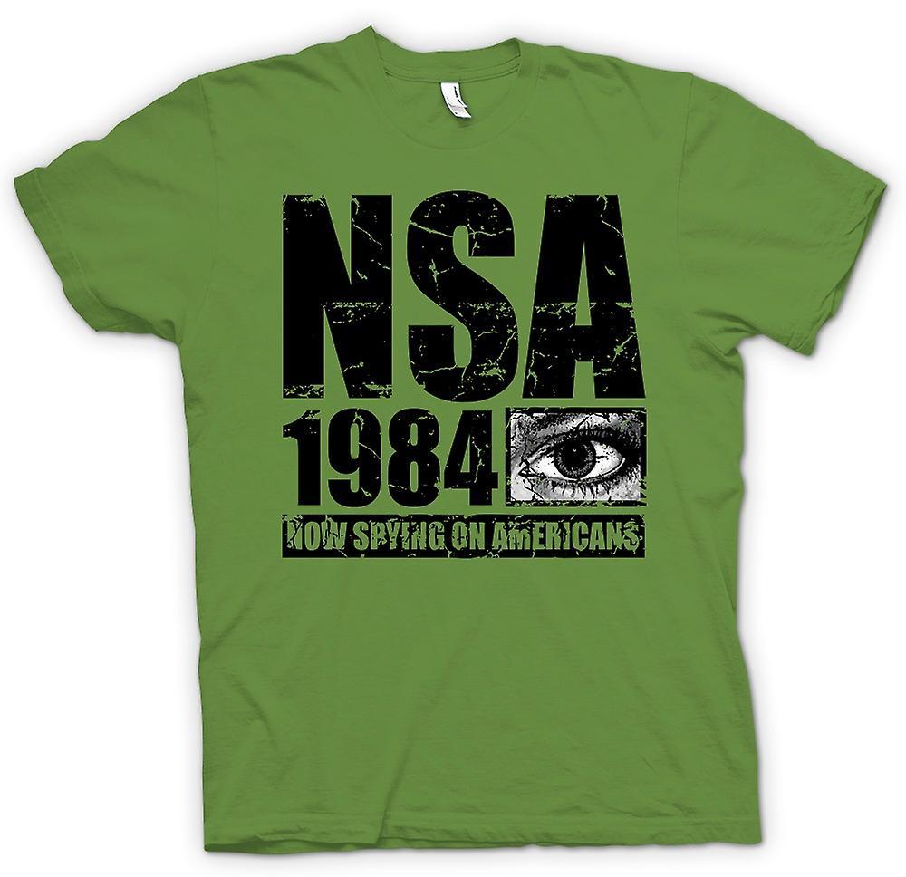 Heren T-shirt - NSA 1984 bespioneren Amerikanen - Police State