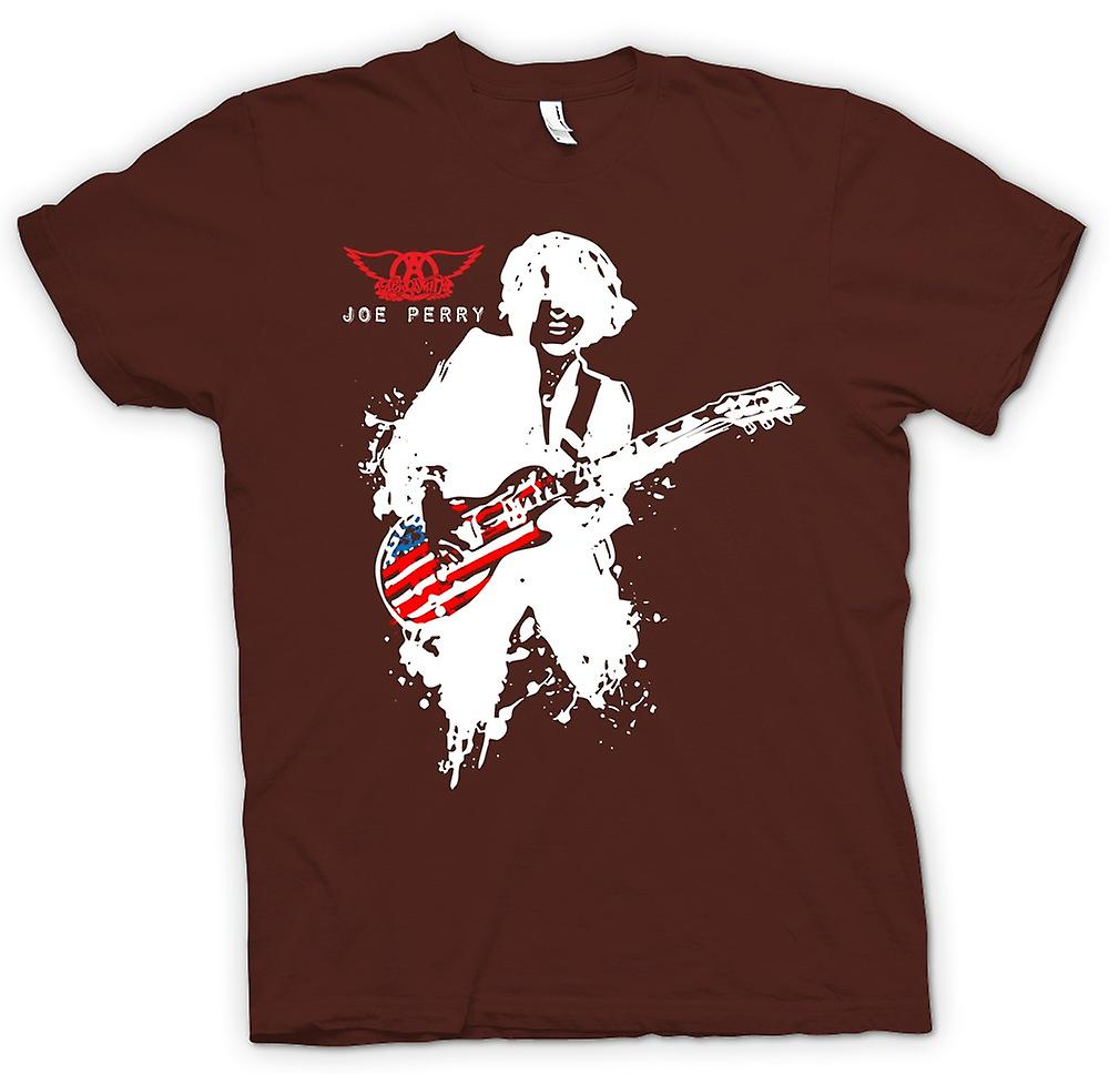 Mens t-shirt-Aerosmith - Joe Perry - chitarra