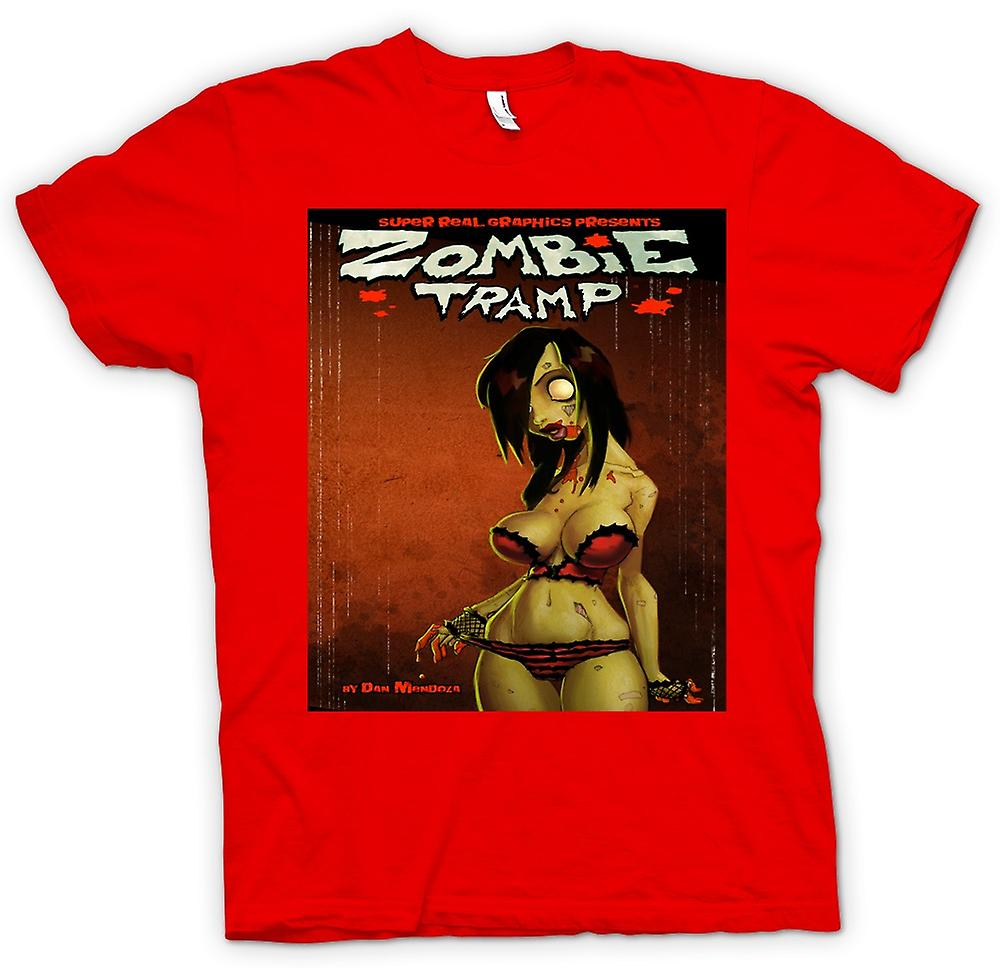 Mens T-shirt - Zombie Tramp - Undead - Pin-Up