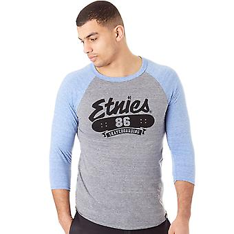 ETNIES Grey Heather 86 Triblend Raglan T-Shirt