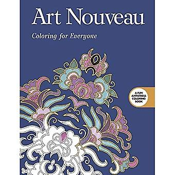 Art Nouveau: Coloring for Everyone (Creative Stress Relieving Adult Coloring Book)