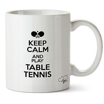 Hippowarehouse Keep Calm And Play Table Tennis Printed Mug Cup Ceramic 10oz