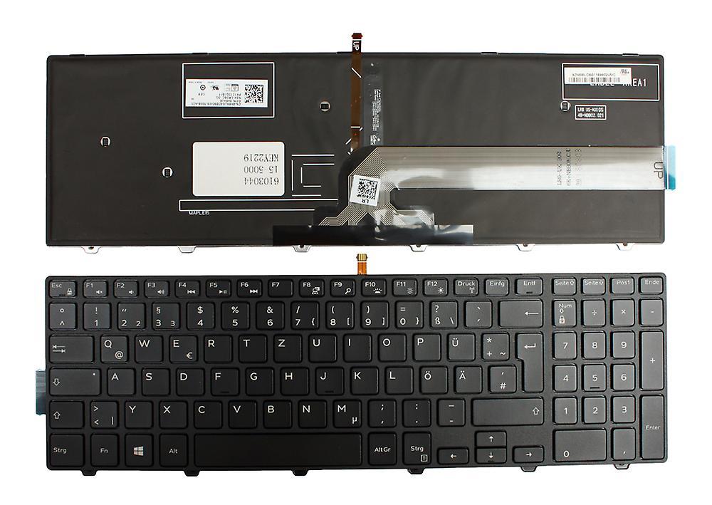 Dell Inspiron 5521 cadre noir rétro-éclairé noir Windows 8 disposition allehommede remplaceHommest clavier d'ordinateur portable