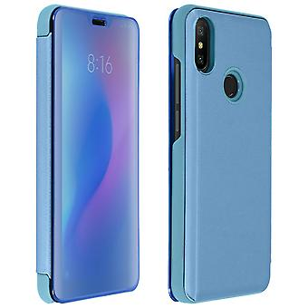 Flip Case, Mirror Case for Xiaomi Mi A2, Standing Cover - Blue
