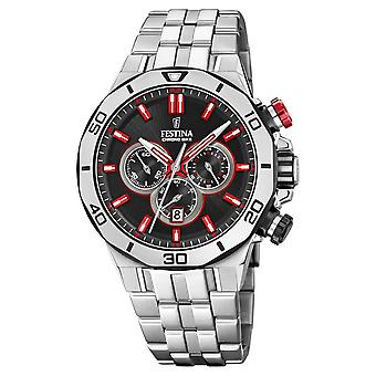Festina Chrono Bike 2019 | Stainless Steel Bracelet | Black Dial F20448/7 Watch