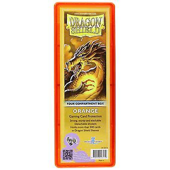 Dragon Shield Four-Compartment Storage Box - Orange