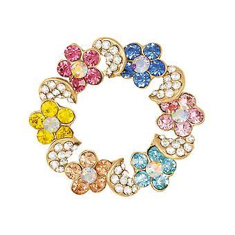 Wieczne kolekcji Rainbow Multi kolorowy szalik Crystal klip