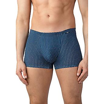 Mey Men 33521-668 Men's Point Yacht Blue Spotted Cotton Fitted Boxer