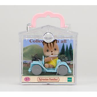 Sylvanian Families Squirrel on Car Baby Carry Case