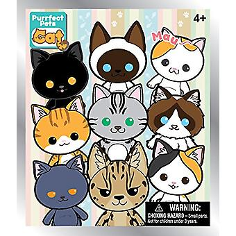 Key Chain - Purrfect Pets Cat Cats - 3D Collectible PVC Figural New 81025