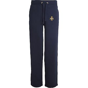 Light Dragoons - Licensed British Army Embroidered Open Hem Sweatpants / Jogging Bottoms