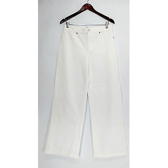 Isaac Mizrahi Live! Pants Ponte Knit Full Leg Pants White A263890