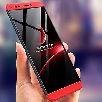 Bakeey 3 in 1 double dip 360 hard pc full protective case for huawei y7 prime 2018 / huawe enjoy 8