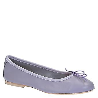 Leonardo Shoes Women's handmade ballet flats shoes in Lilac soft leather