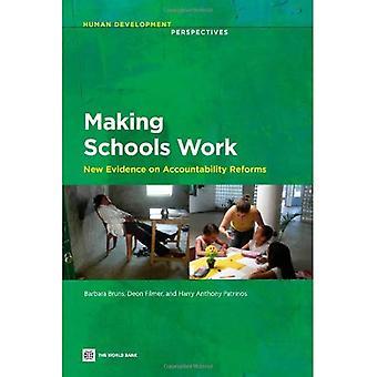 Göra skolorna arbete: nya belägg för ansvars reformer