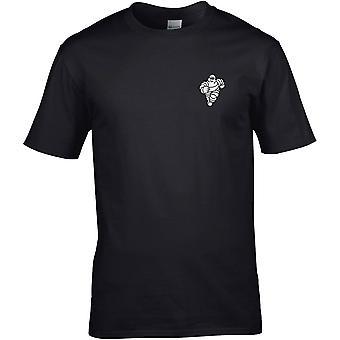 Mitchelin Man Tyres - Motoring Classic Embroidered Logo - Cotton Premium T-Shirt