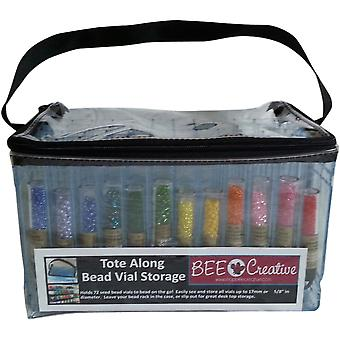 Bee Creative Tote Along Bead Vial Storage Bag 10