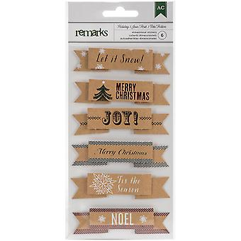Holiday Remarks Layered Stickers-Let It Snow 340550