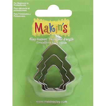 Makin's Clay Cutters 3 Pkg Tree M360 19