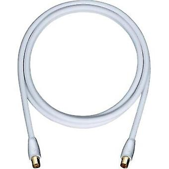 Antennas Cable [1x Belling-Lee/IEC plug 75Ω - 1x Belling-Lee/IEC plug 75Ω] 2 m 110 dB gold plated connectors White Oehlb