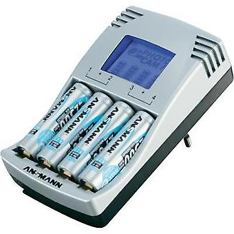Ansmann Photocam IV, 4-Slot Universal Battery Charger NiCd, NiMH