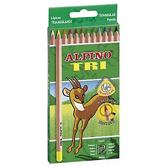 Alpino 12 Pencils Tri-Alpine (Toys , School Zone , Drawing And Color)