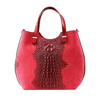 CTM ladies handbag animal pattern and suede, genuine leather made in Italy