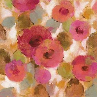 Glorieuze roze bloemen II Poster Print by Silvia Vassileva
