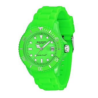 Candy time by Madison N.Y.. watch unisex U4503-49-1 neon green